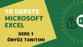 Microsoft Excel Başlangıç Eğitimi – Ders 1 (Önyüz Tanıtımı)