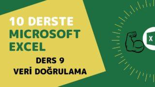Microsoft Excel Başlangıç Eğitimi – Ders 9 (Veri Doğrulama)