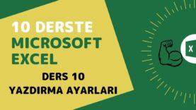 Microsoft Excel Başlangıç Eğitimi – Ders 10 (Yazdırma Ayarları)