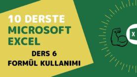 Microsoft Excel Başlangıç Eğitimi – Ders 6 (Formül Kullanımı)